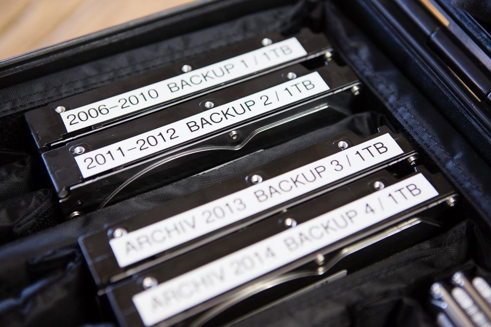 Backupkoffer für Blogbeitrag